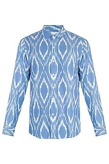 Light blue ikat shirt