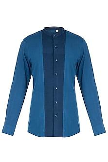 Indigo khadi shirt