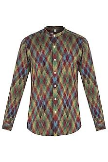 Multi coloured ikat shirt