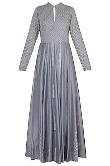 Grey embroidered peshwa kurta set