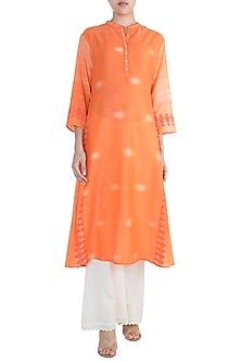 Orange Printed Tunic by Krishna Mehta