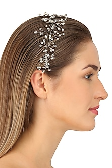 Crux Antique Silver Crystal Embellished Headpiece