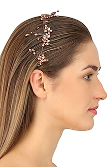 Auriga Rose Gold Crystal Embellished Headpiece by Karleo