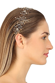 Hydra Champagne Gold Crystal Embellished Headpiece
