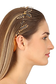Orion Smoked Topaz Crystal Embellished Headpiece
