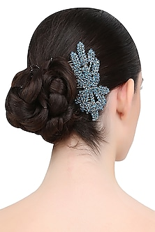 Blue Orchid Trellis Crystal Embellished Haircomb