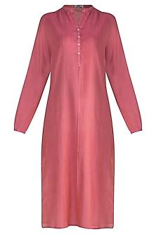 Pink Pintuck Tunic by Krishna Mehta