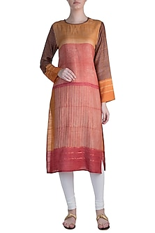 Multicolored Pintuck Tunic by Krishna Mehta