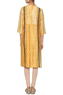 Saffron yellow embroidered tunic