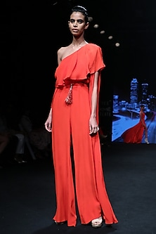 Flamingo Orange Jumpsuit