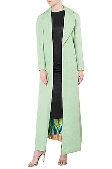 Mint Green Full Length Jacket by Kritika Universe
