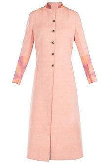 Peach reversible tie dye jacket