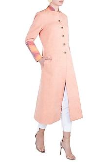 Peach reversible tie dye jacket by KRITIKA UNIVERSE