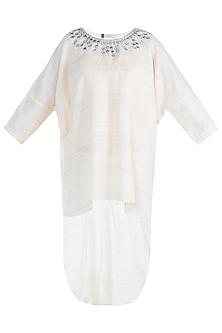 White indo fusion embroidered tunic