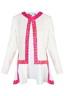 Cream ikat jacket