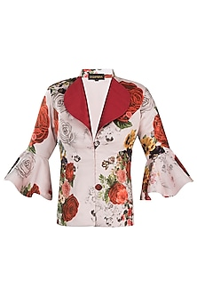 White printed rose jacket