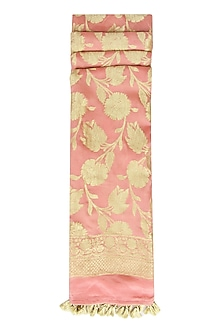 Peach and Gold Chiffon Dupatta