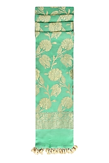 Sea Green and Gold Chiffon Dupatta