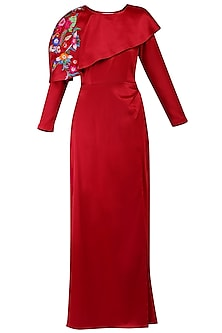 Red maxi dress by KUKOON