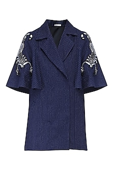 Navy blue flared cape