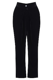 Black tie-up pants
