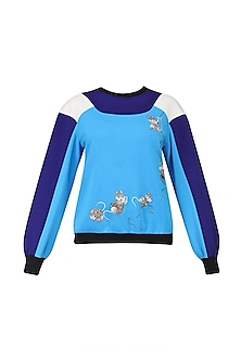 Blue Double Shade Sweatshirt