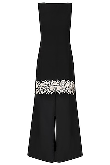 Black short tunic with A line pants