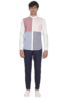 White Penny Round Collared Shirt by LACQUER Embassy