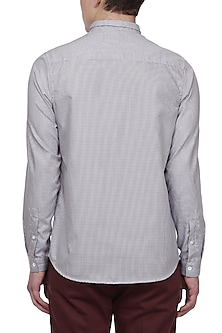 Black & White Grid Pattern Shirt by LACQUER Embassy