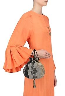 Black Osmetic Potli Bag by Lovetobag
