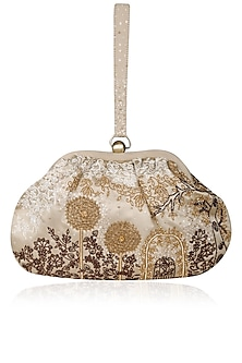 Champagne Onza Handle Pouch by Lovetobag