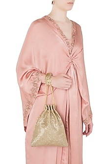 Golden Embroidered Ombre Potli
