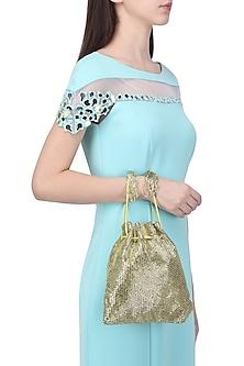 Gold Embroidered Cesta Potli Bag