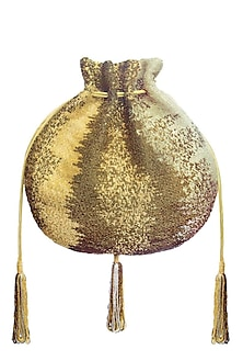 Gold Osmetic Potli Bag by Lovetobag