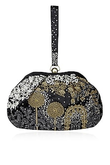 Black Onza Handle Pouch by Lovetobag