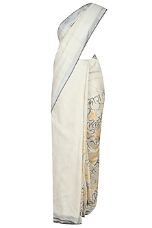 Natural Colour Nirala's Poetry Hand Painted Bhagalpur Saree