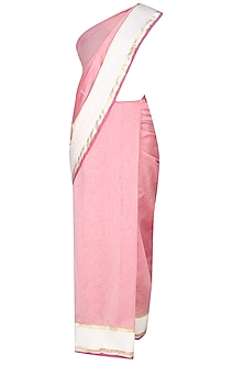 Onion Pink Shri Harivansh Rai Bachchan's Poetry Hand Painted Saree