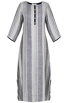 Black and grey striped tunic