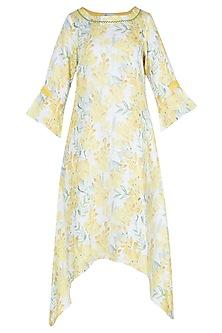 Yellow and white printed tunic
