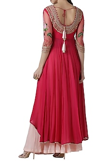 Pink embroidered lehenga set