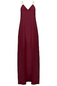 Dark Pink Double Strap Maxi Dress