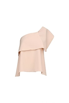 Peach Ruffle Detail Top