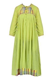Green Checks Tunic Dress