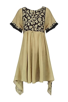 Beige Kalamkari Tunic Dress