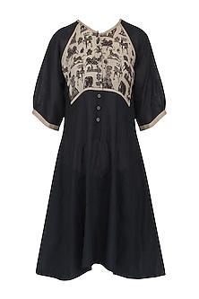 Black Kalamkari Tunic Dress