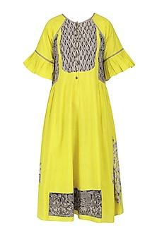 Yellow Kalamkari Tunic Dress