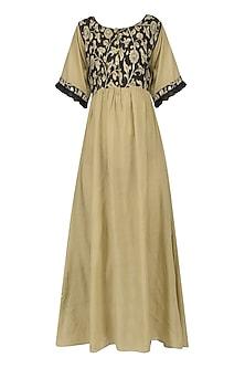 Beige Kalamkari Long Dress