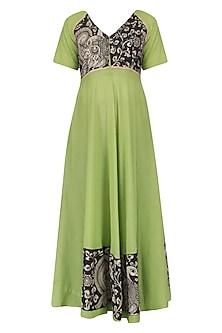 Green Kalamkari Long Dress