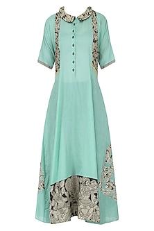 Blue Kalamkari Long Dress