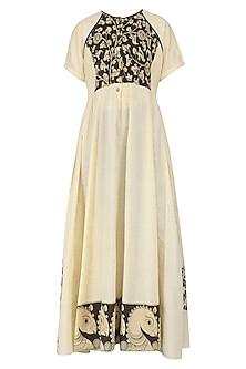 Off White Kalamkari Long Dress